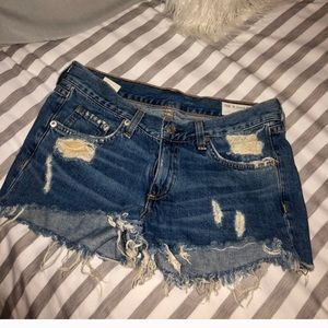 Rag & Bone distressed denim cut offs